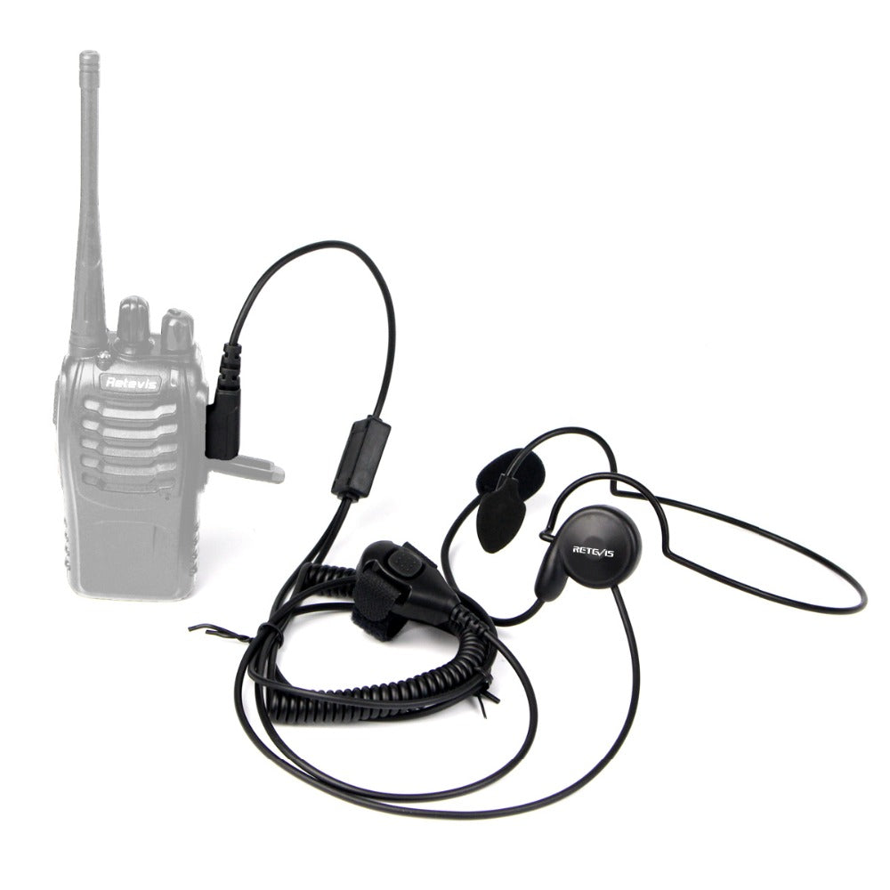 Retevis 2 Pin Earpiece Mic Finger PTT Headset for Kenwood BAOFENG UV-5R BF-888s Retevis H777 TYT Ham Radio Walkie Talkie Headset