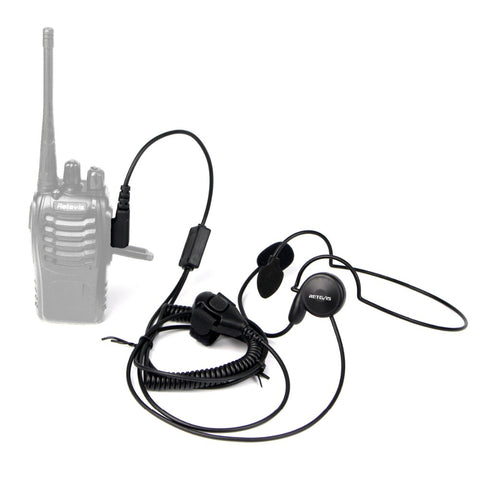 Image of Retevis 2 Pin Earpiece Mic Finger PTT Headset for Kenwood BAOFENG UV-5R BF-888s Retevis H777 TYT Ham Radio Walkie Talkie Headset