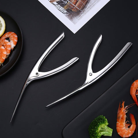 Image of Restaurant High-Class Stainless Steel Smart Shrimp Peeling Plier Kitchen Easy Peel Shrimp Clamp Housewife Handy Shrimp Peel Tool