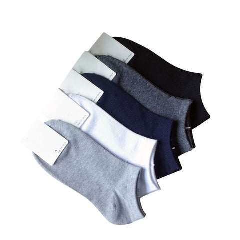 Image of 6pcs=3 Pairs/lot Spring Summer Men Cotton Ankle Socks For Men's Business Casual Solid Color Short Socks Male Sock Slippers Meias