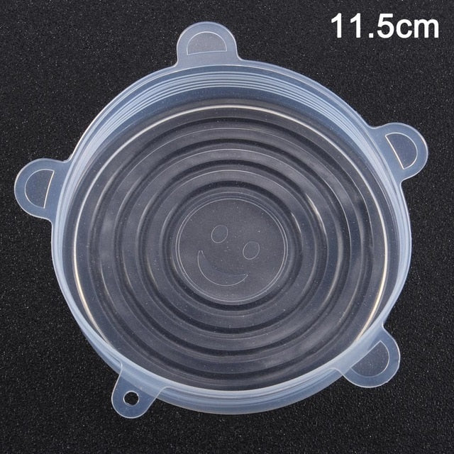 Newly Reusable Silicone Food Lid Bowl Covers Wrap Food Fresh-keeping Stretchable Household Kitchen Kit