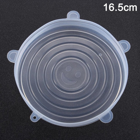 Image of Newly Reusable Silicone Food Lid Bowl Covers Wrap Food Fresh-keeping Stretchable Household Kitchen Kit