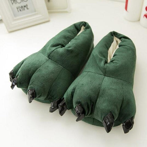 2018 Winter Warm Soft indoor floor Slippers Women Men Children Shoes Paw Funny Animal Christmas Monster Dinosaur Claw Plush Home