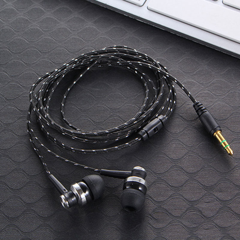 Handfree Stereo Bass Earphone Wired Earbuds headset In Ear Earbus Earpiece 3.5mm with Microphone For Iphone Samsung Xiaomi MP3