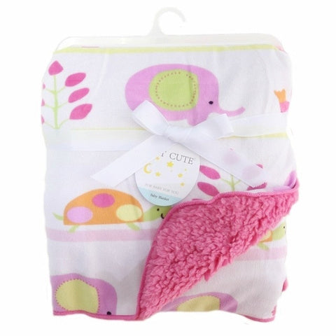 Image of Baby Blanket New Brand Thicken Double Layer Coral Fleece Infant Swaddle Envelope Stroller Wrap For Newborn Baby Bedding Blankets