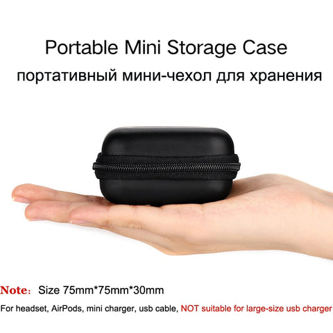 Image of Mobile Phone Accessories Headphone Case Hard Box Bag For Apple Airpods Earpods Earphone USB Cable Charger Card Storage Package