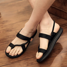 Load image into Gallery viewer, Sandals Men Sandalias Hombre Gladiator Sandals for Male Summer Roman Beach Shoes Flip Flops Slip on Flats Slippers Slides