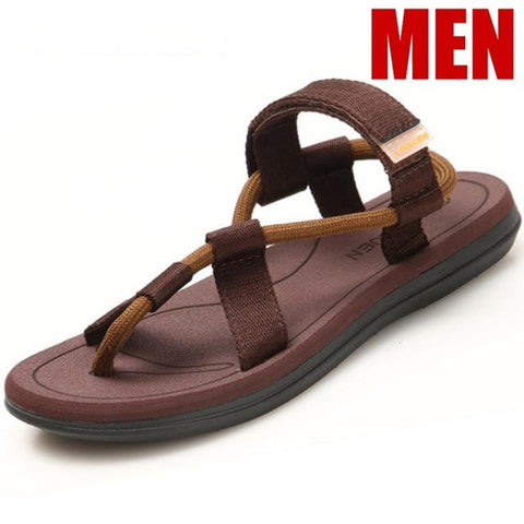 Sandals Men Sandalias Hombre Gladiator Sandals for Male Summer Roman Beach Shoes Flip Flops Slip on Flats Slippers Slides