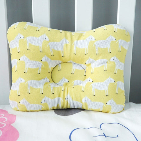 Image of Muslinlife Head Protection Cushion Pillow Newborn Baby Kids Pillows Animal Printed Cotton Kids Pillow Sleep Positioner Dropship