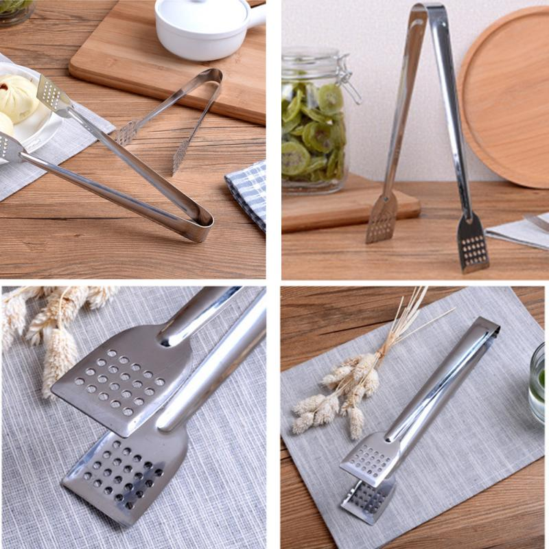 Stainless Steel Food Tongs Kitchen Utensils Buffet Cooking Tool Anti Heat Bread Clip Pastry Clamp Barbecue Kitchen Tongs Steel