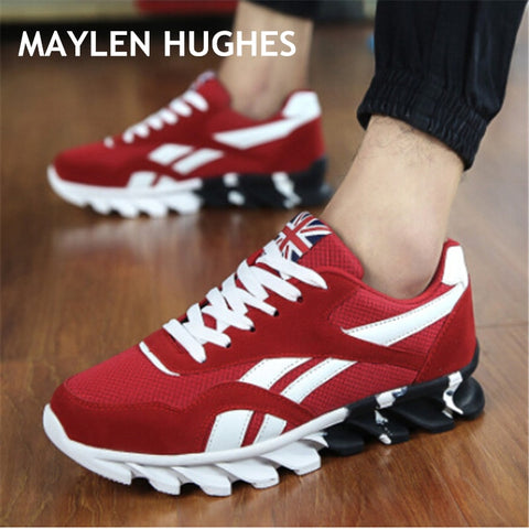Image of 2019 New Spring Autumn Men Running Shoes For Outdoor Comfortable MenTrianers Sneakers Men Sport Shoes