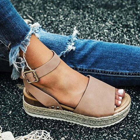 Image of Women Sandals Plus Size Wedges Shoes For Women High Heels Sandals Summer Shoes 2019 Flip Flop Chaussures Femme Platform Sandals