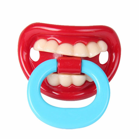 Image of Food Grade Silicone Funny Baby Pacifiers Nipple Teethers Toddler Pacifier Orthodontic Soothers Teat for Baby Pacifier Gift