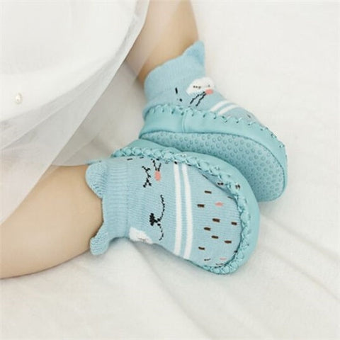 Image of Infant First Walkers Leather Baby Shoes Cotton Newborn Toddler Boy Shoes Soft Sole Autumn Winter Babies Shoes for Baby Girl