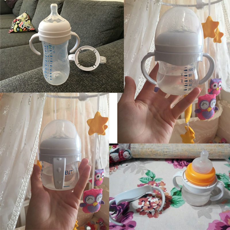 Bottle Grip Handle for Natural Wide Mouth PP Glass Baby Feeding Bottles Baby Bottle Accessories Include 1PCS Bottle Grip