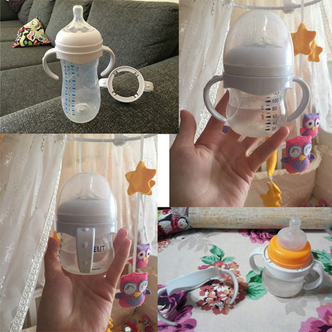 Image of Bottle Grip Handle for Natural Wide Mouth PP Glass Baby Feeding Bottles Baby Bottle Accessories Include 1PCS Bottle Grip