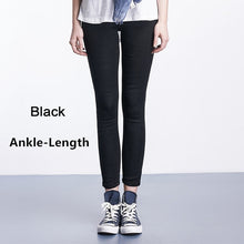 Load image into Gallery viewer, Women Jeans Plus Size Casual high  waist summer Autumn Pant Slim Stretch Cotton Denim Trousers for woman Blue black 4xl 5xl 6xl