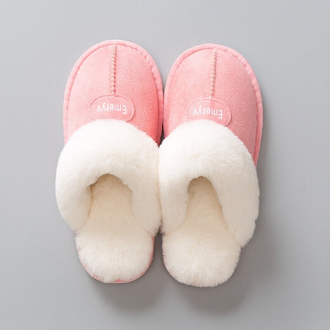Image of Women House Slippers Plush Winter Warm Shoes Woman Comfort Coral Fleece Memory Foam Slippers House Shoes for Indoor Outdoor Use