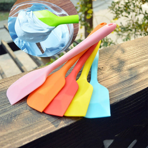 Image of Sweet Color Silicone Shovel Cake Spatula Non-stick Food Lifters Home Cooking Utensils Kitchen Utensil Gadget Tools 21.5*4.3cm