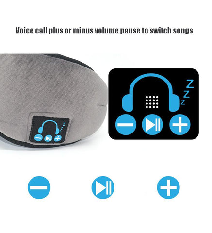 Image of Sleep Headphone Bluetooth Sleep Mask Wireless Sleep Eye Mask Earphone Travel Eye Shades with Built-in Speakers Mic Handsfree d25