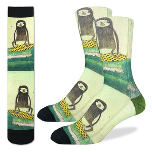 Bas Good Luck Sock Surfing Sloth