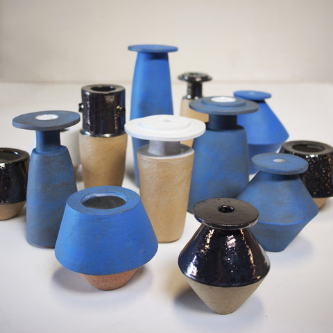 Bari Ziperstein Slab Built Ceramic Vases