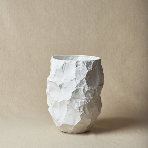 "Max Lamb: Limited Edition White Porcelain ""Big Vase I"" & ""Big Vase II"""