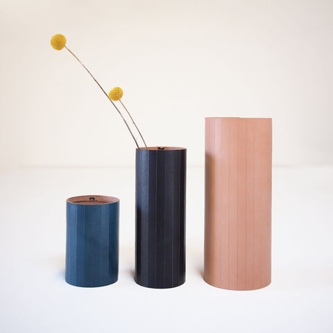 Natalie Davis: Leather Wrapped Vases