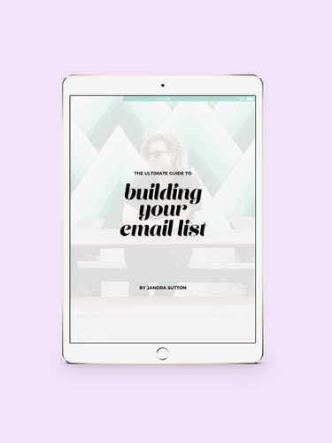 The Ultimate Guide to Building Your Email List (With Practically Zero Effort) - jandralee.com/shop