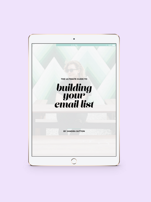 The Ultimate Guide to Building Your Email List (With Practically Zero Effort) - jandralee