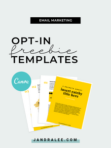 Email Freebie Lead Magnet (Canva Template) - jandralee.com/shop
