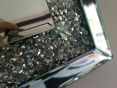 90cmx65cm Crushed Diamond Mirror