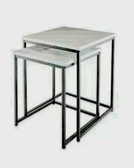 Loft Range Marble Effect Nest of 2 Tables