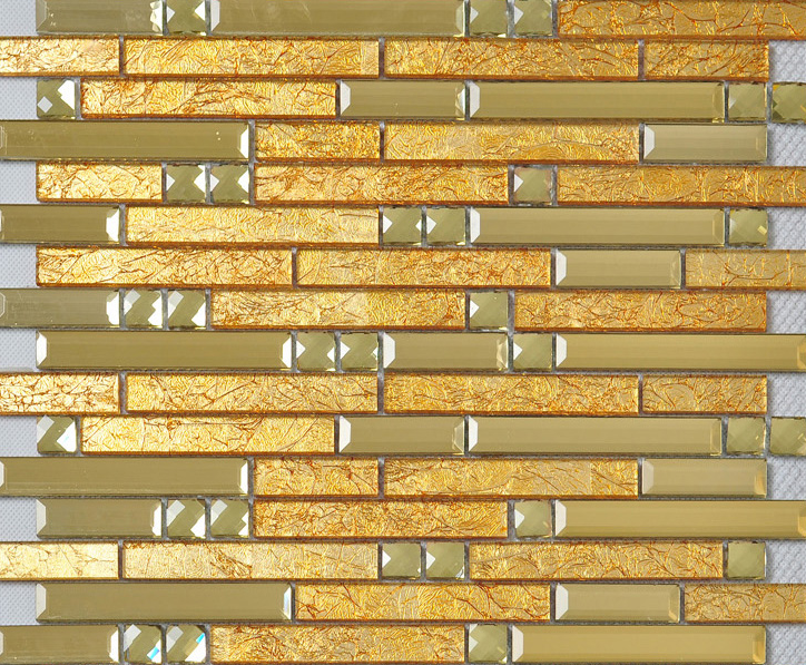 Beautiful High Quality Glass Mosaic Wall Tiles-Kitchen/Bathroom #J17