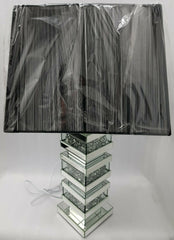 Large Crushed Diamond Table Lamp