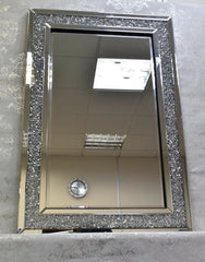 120x80cm Crushed Diamond Mirror