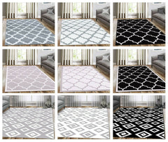 A2Z Rug Modern Trellis Area Rugs Contemporary Living Room Geometric Area Carpets