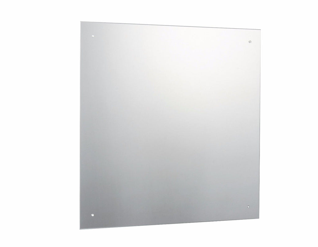 Frameless Bathroom Mirror with Pre Drilled Holes and Wall Hanging Fixings