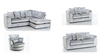 Image of CRUSHED VELVET SOFA SET - VARIOUS COLOURS