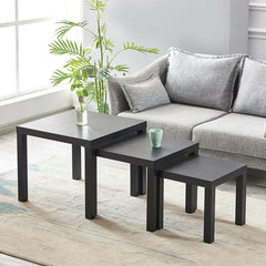 Black Wood Nest of 3 Tables