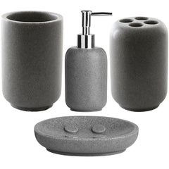 4 Piece Bathroom Accessories Set