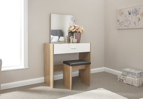 Dressing Table Stool Mirror Set