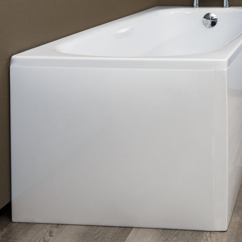 Essentials Acrylic Bath End Panel for Straight Curved Square Baths Width 700mm