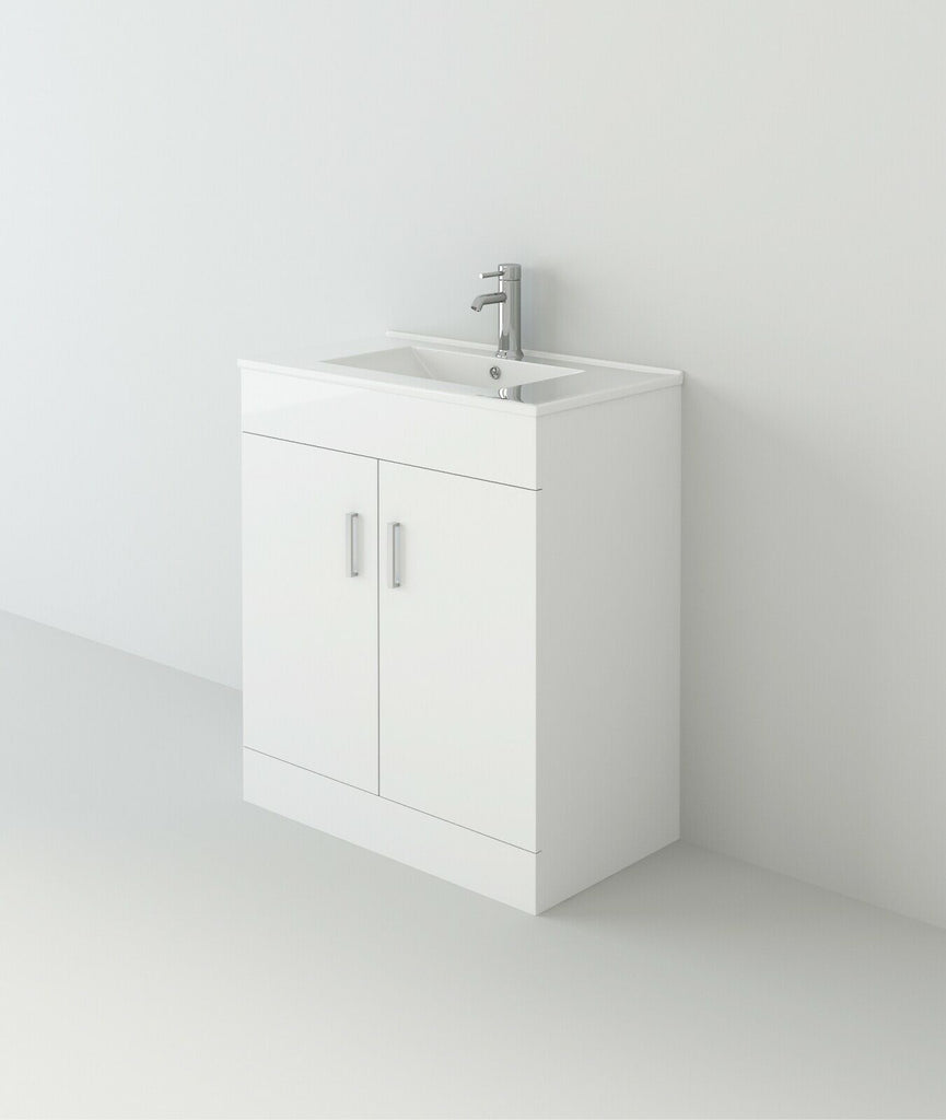 VeeBath Sphinx Bathroom Furniture Suite Vanity Basin Cabinet & WC Unit - 1200mm