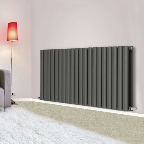 Anthracite Designer Horizontal Vertical Radiator Flat Panel Oval Column Rads