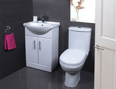 CHEAP COMPLETE BATHROOM SUITE SET - WITH VANITY UNIT