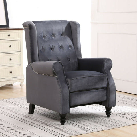 Chesterfield Velvet Recliner/Armchair