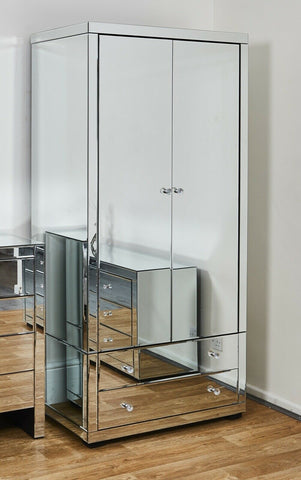 Mirrored Furniture Bedside Table Chest of Drawers Dressing Sideboard Mirror