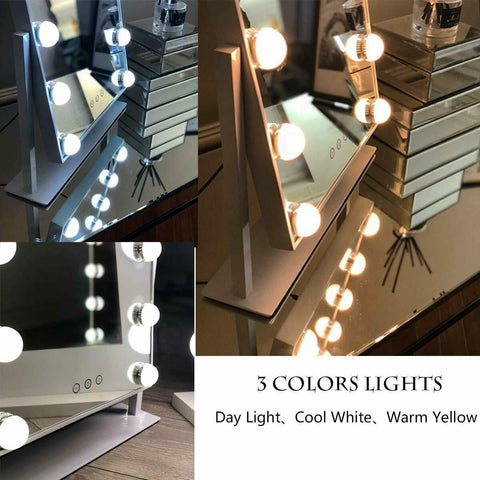 Light Up Hollywood Mirror LED Bulb Make Up Vanity Cosmetic Dressing Table Mirror
