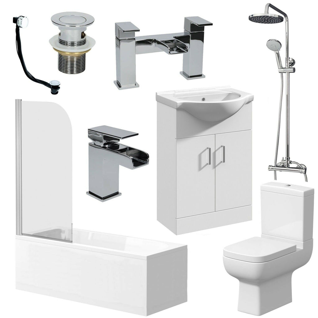 Complete Bathroom Suite with Vanity Unit Basin